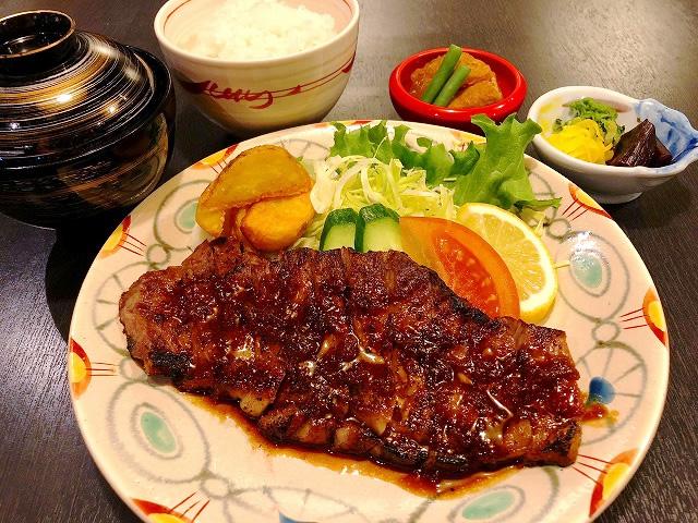 ステーキ定食 1,200円(税別)