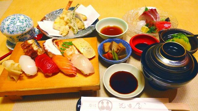 池田屋定食(にぎり)2,600円(税別)